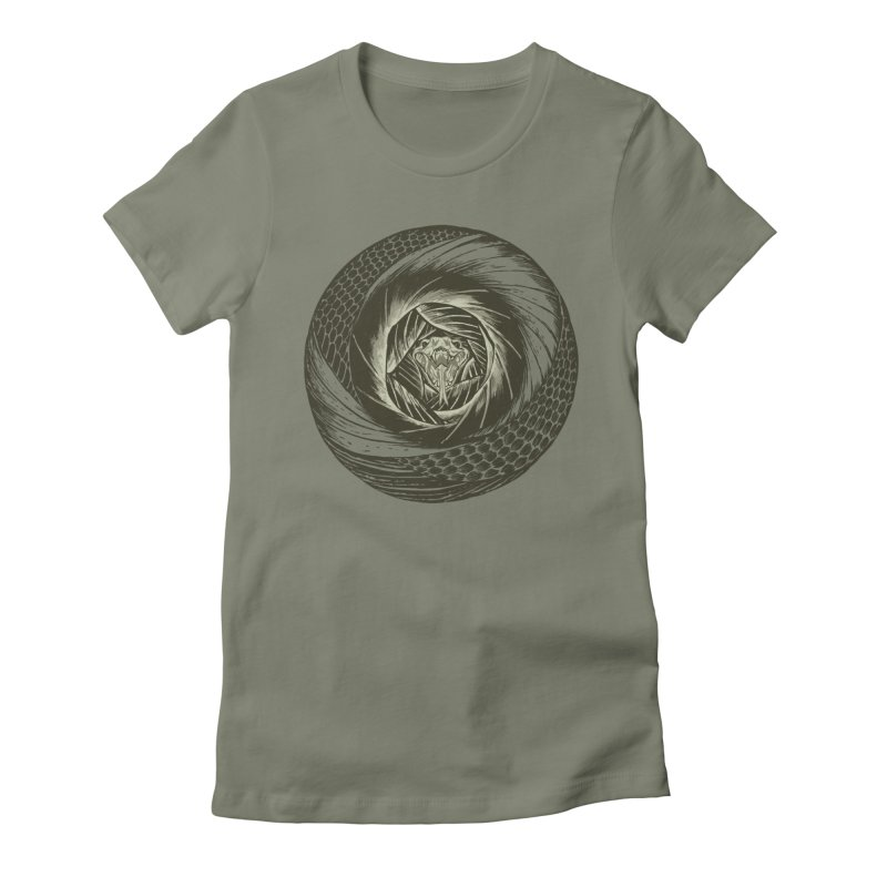 RETIRING!! Snake Circle Women's Fitted T-Shirt by Ming Doyle