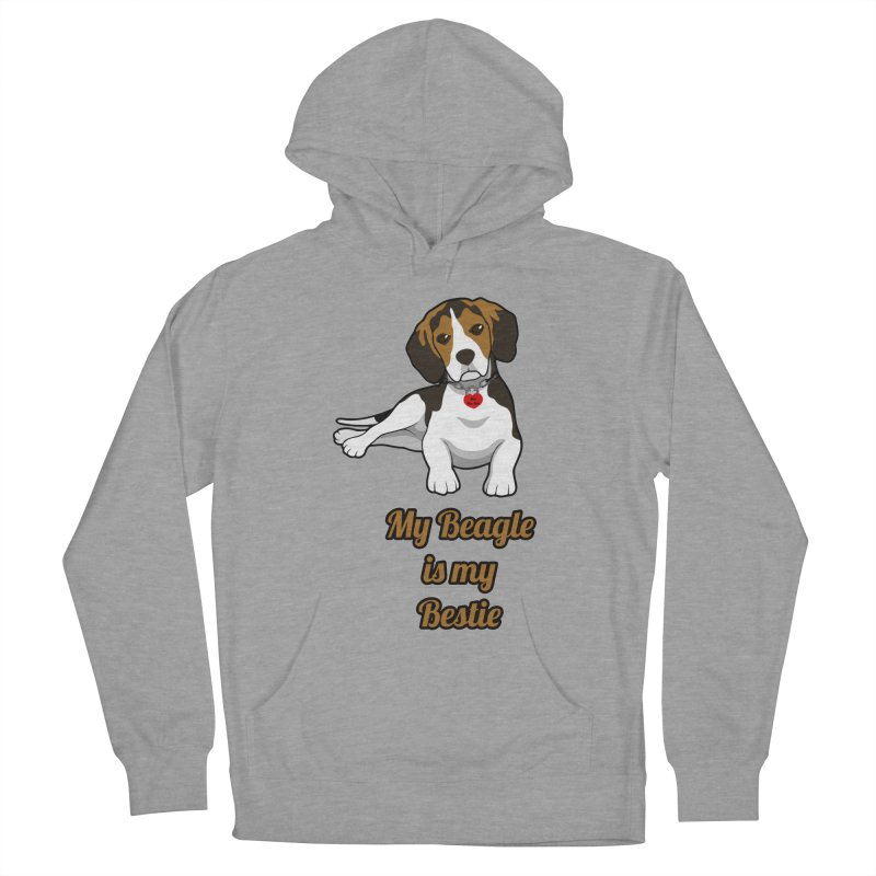 Beagle is my Bestie Women's Pullover Hoody by Mini Moo Moo Clothing Company