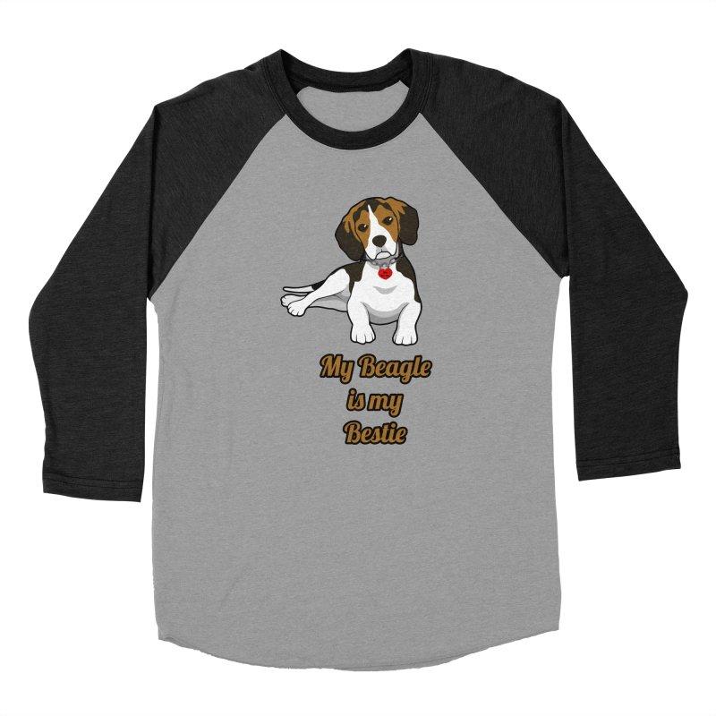 Beagle is my Bestie Women's Baseball Triblend Longsleeve T-Shirt by Mini Moo Moo Clothing Company