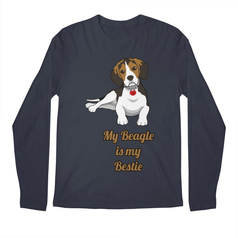 Beagle is my Bestie Men's Regular Longsleeve T-Shirt by Mini Moo Moo Clothing Company