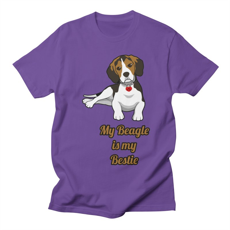 Beagle is my Bestie in Men's Regular T-Shirt Purple by Mini Moo Moo Clothing Company