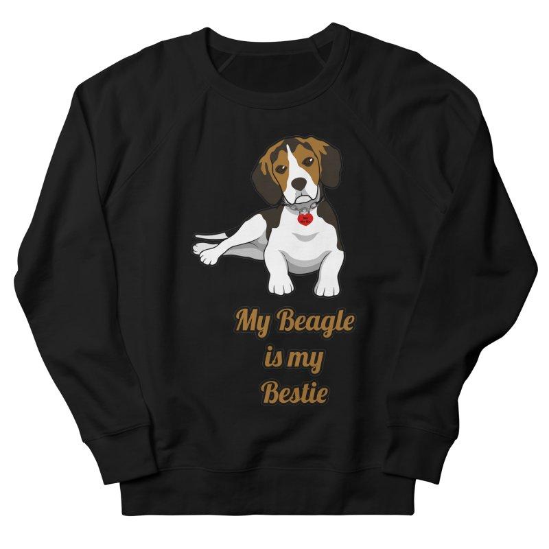 Beagle is my Bestie Men's French Terry Sweatshirt by Mini Moo Moo Clothing Company