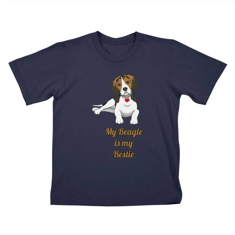 Beagle is my Bestie Kids T-Shirt by Mini Moo Moo Clothing Company