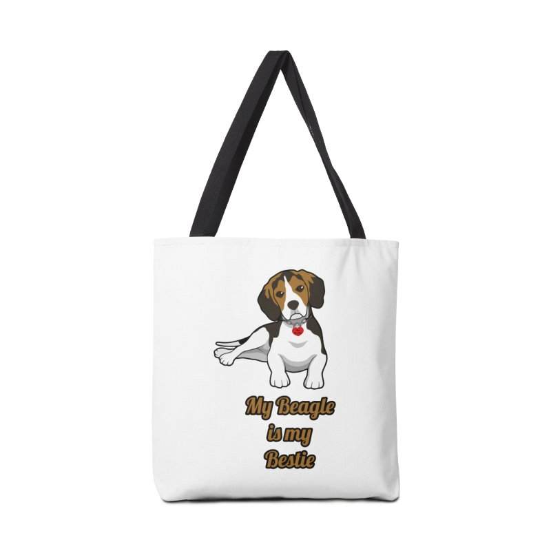 Beagle is my Bestie Accessories Tote Bag Bag by Mini Moo Moo Clothing Company