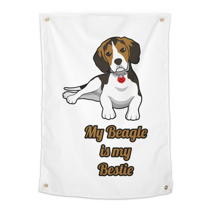 Beagle is my Bestie Home Tapestry by Mini Moo Moo Clothing Company