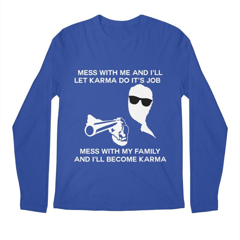 I am Karma Blackout Men's Regular Longsleeve T-Shirt by Mini Moo Moo Clothing Company