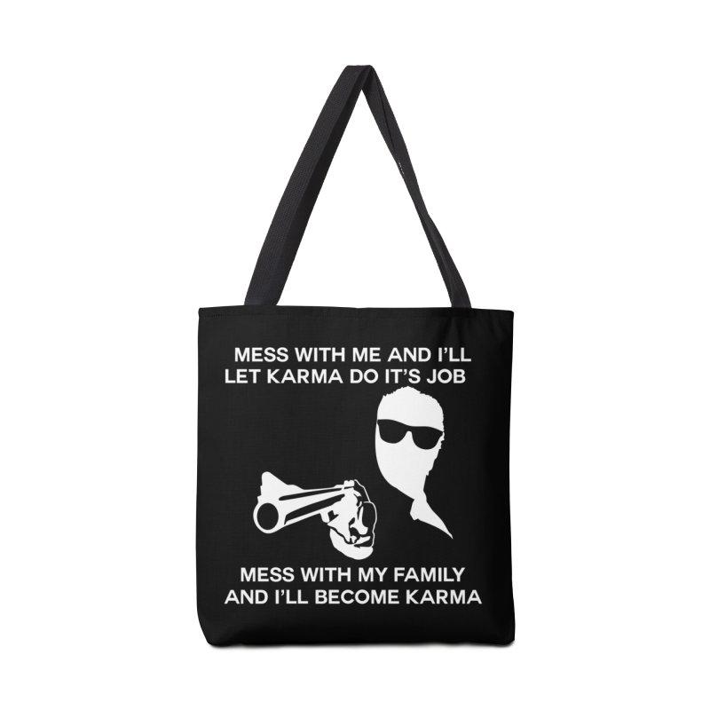 I am Karma Blackout Accessories Tote Bag Bag by Mini Moo Moo Clothing Company