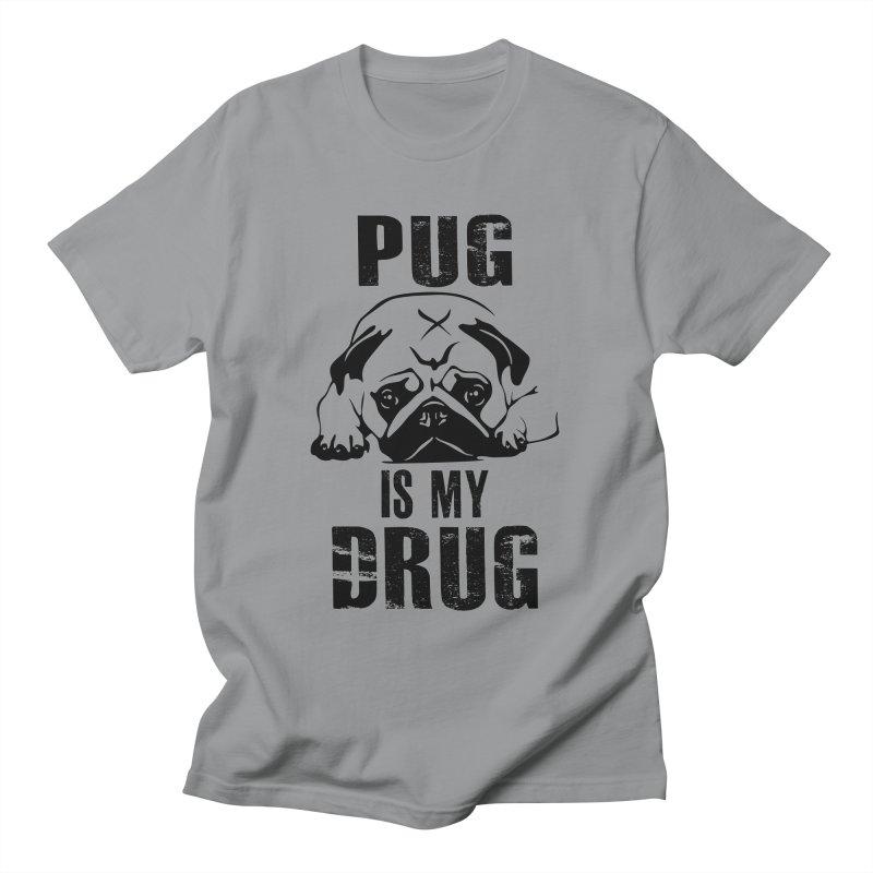 Pug is my Drug Men's T-Shirt by Mini Moo Moo Clothing Company