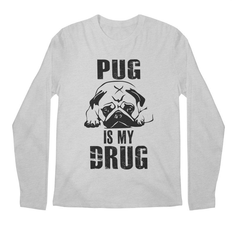 Pug is my Drug Men's Regular Longsleeve T-Shirt by Mini Moo Moo Clothing Company