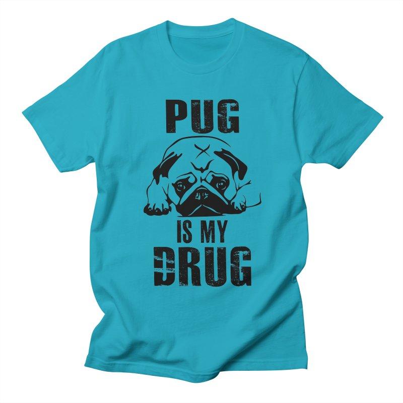 Pug is my Drug Women's Regular Unisex T-Shirt by Mini Moo Moo Clothing Company