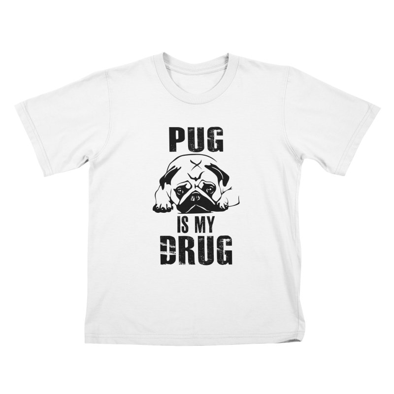Pug is my Drug Kids T-Shirt by Mini Moo Moo Clothing Company