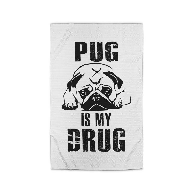 Pug is my Drug Home Rug by Mini Moo Moo Clothing Company