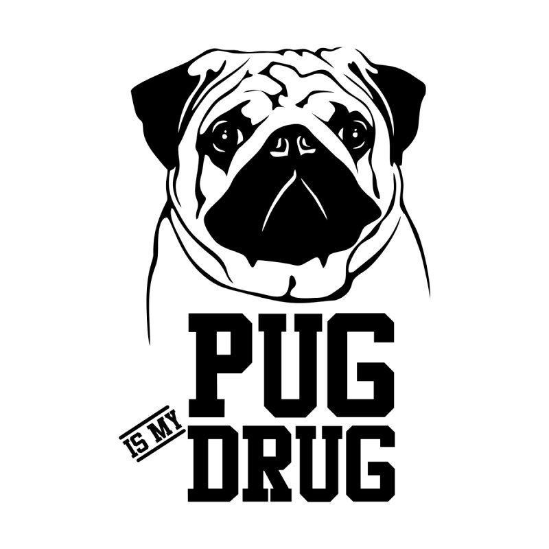 Pug is my Drug Again Women's V-Neck by Mini Moo Moo Clothing Company