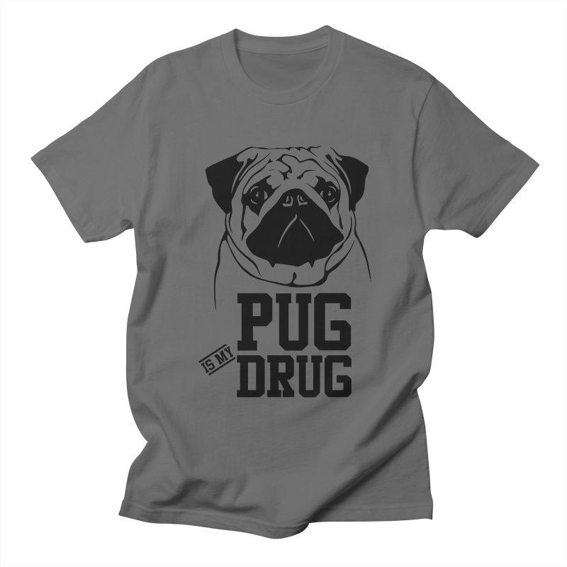 Pug is my Drug Again Men's T-Shirt by Mini Moo Moo Clothing Company