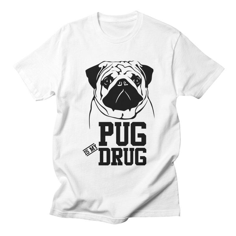 Pug is my Drug Again Women's Regular Unisex T-Shirt by Mini Moo Moo Clothing Company