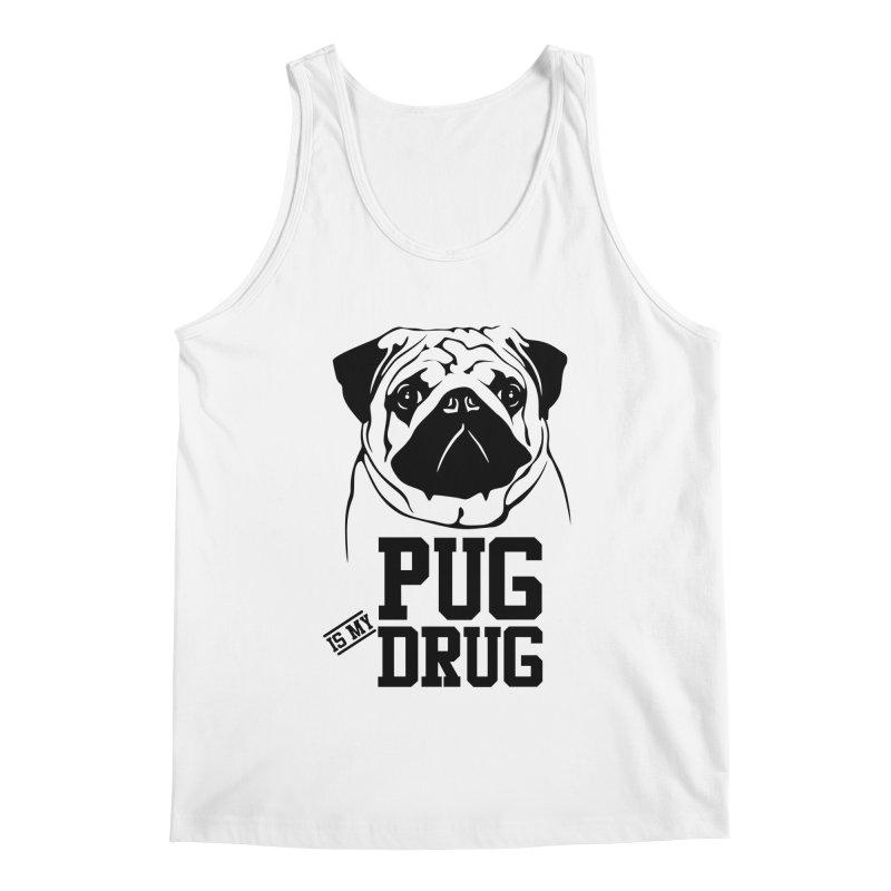 Pug is my Drug Again Men's Tank by Mini Moo Moo Clothing Company