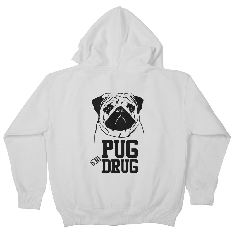 Pug is my Drug Again Kids Zip-Up Hoody by Mini Moo Moo Clothing Company