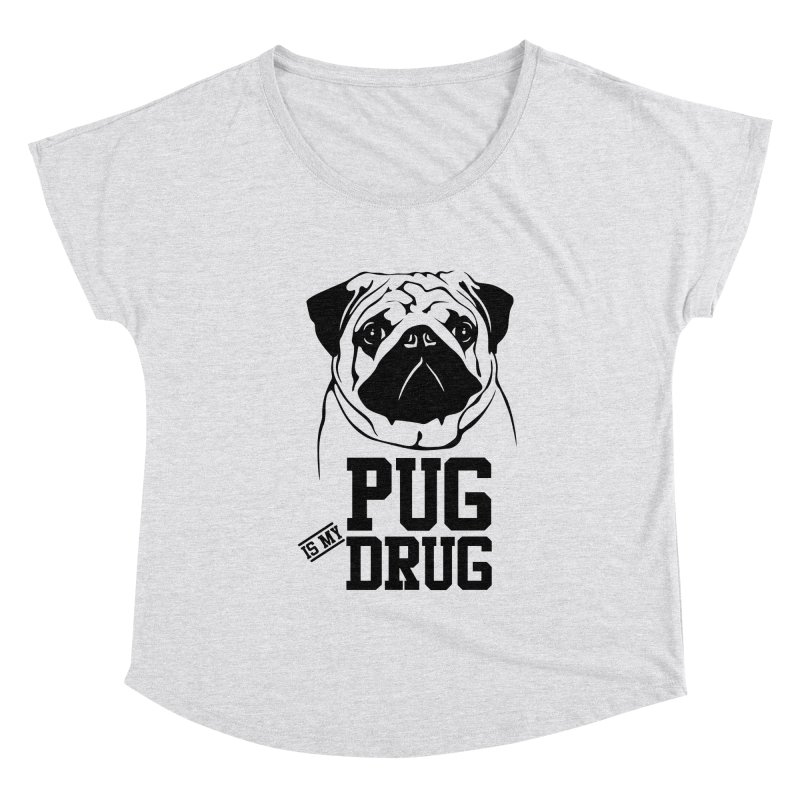 Pug is my Drug Again Women's Scoop Neck by Mini Moo Moo Clothing Company
