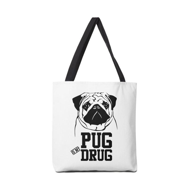 Pug is my Drug Again Accessories Tote Bag Bag by Mini Moo Moo Clothing Company