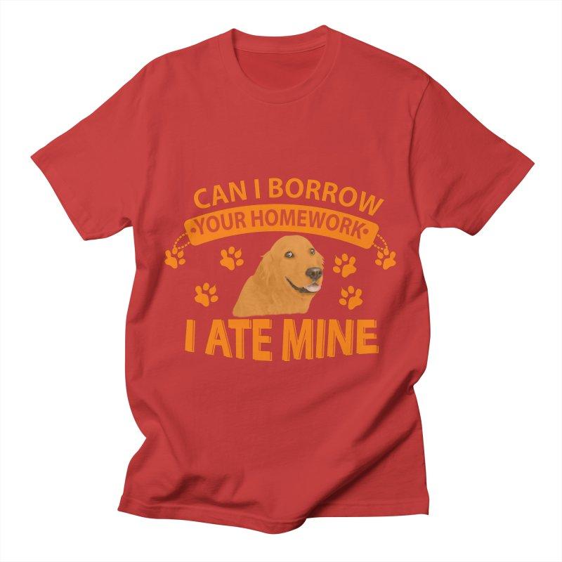 Homework snacking Men's T-Shirt by Mini Moo Moo Clothing Company