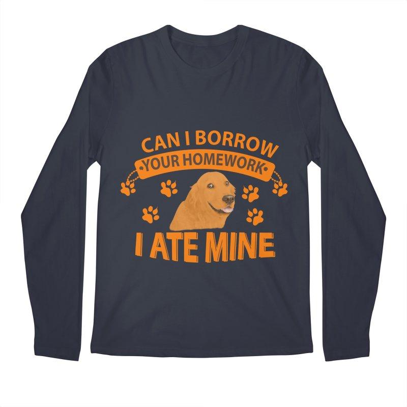 Homework snacking Men's Longsleeve T-Shirt by Mini Moo Moo Clothing Company