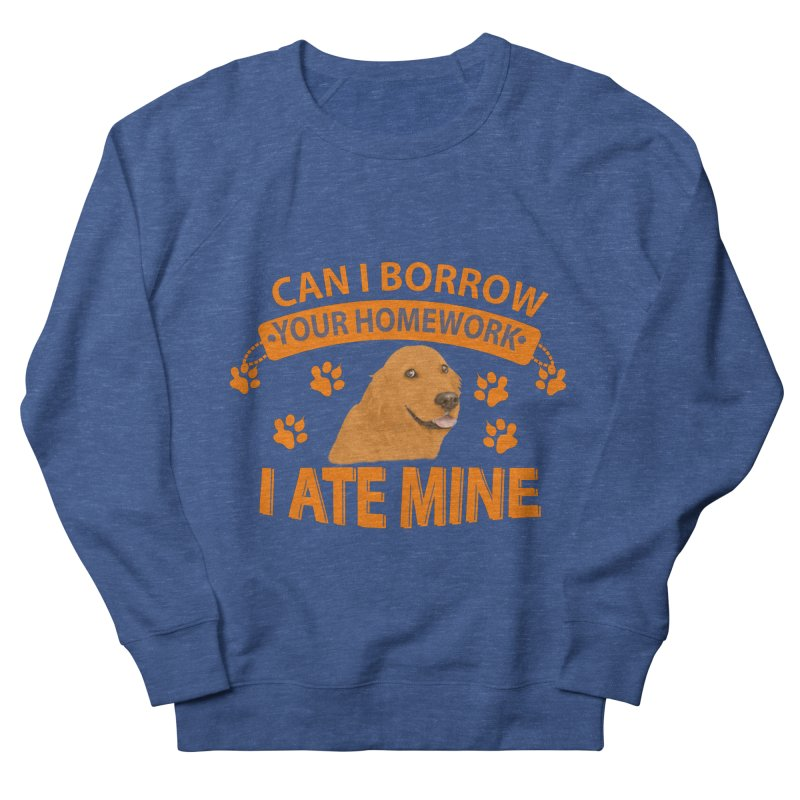 Homework snacking Men's French Terry Sweatshirt by Mini Moo Moo Clothing Company