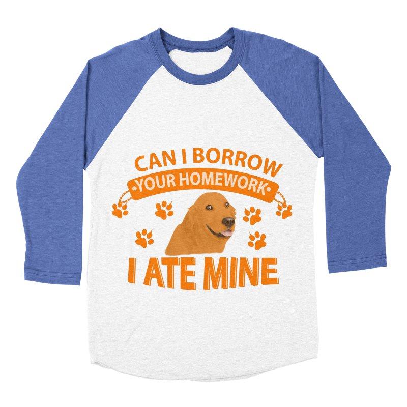 Homework snacking Women's Baseball Triblend Longsleeve T-Shirt by Mini Moo Moo Clothing Company