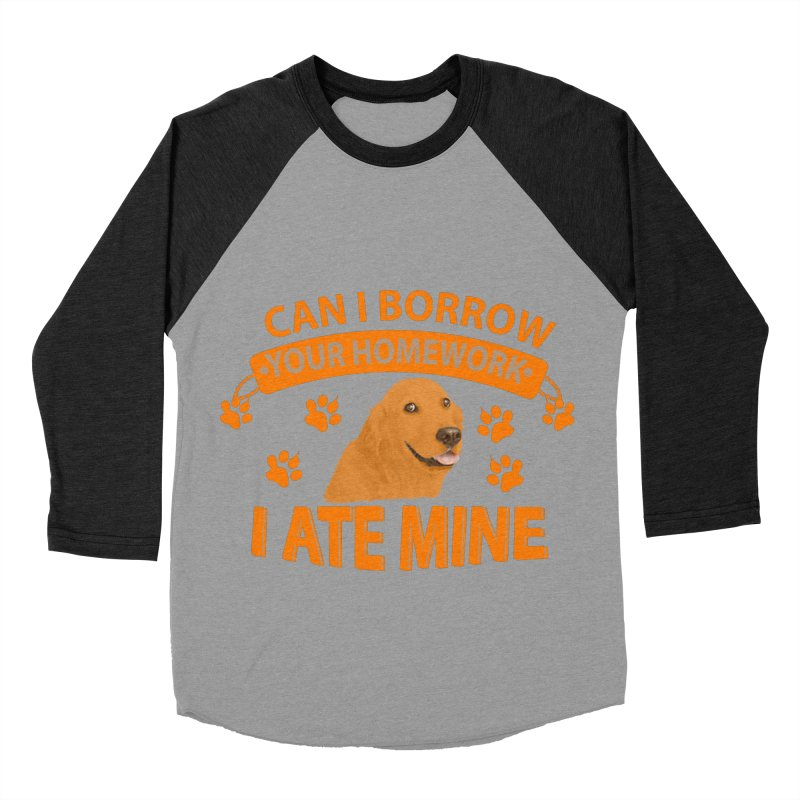 Homework snacking Women's Baseball Triblend Longsleeve T-Shirt by Mini Moo Moo Clothing Company