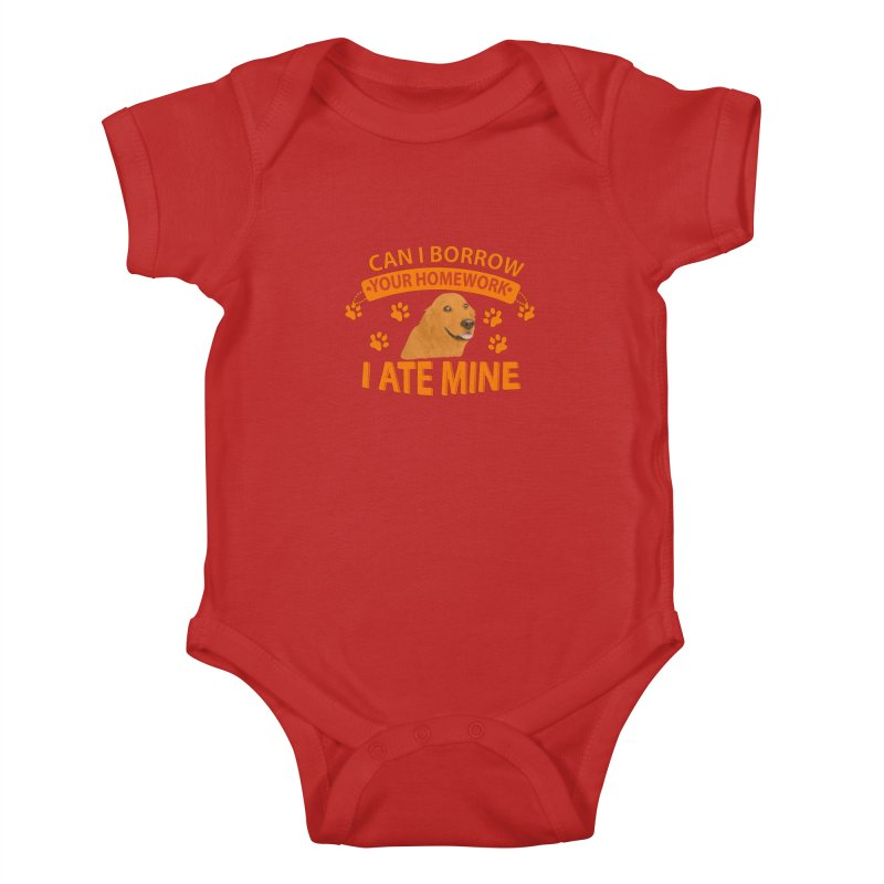 Homework snacking Kids Baby Bodysuit by Mini Moo Moo Clothing Company