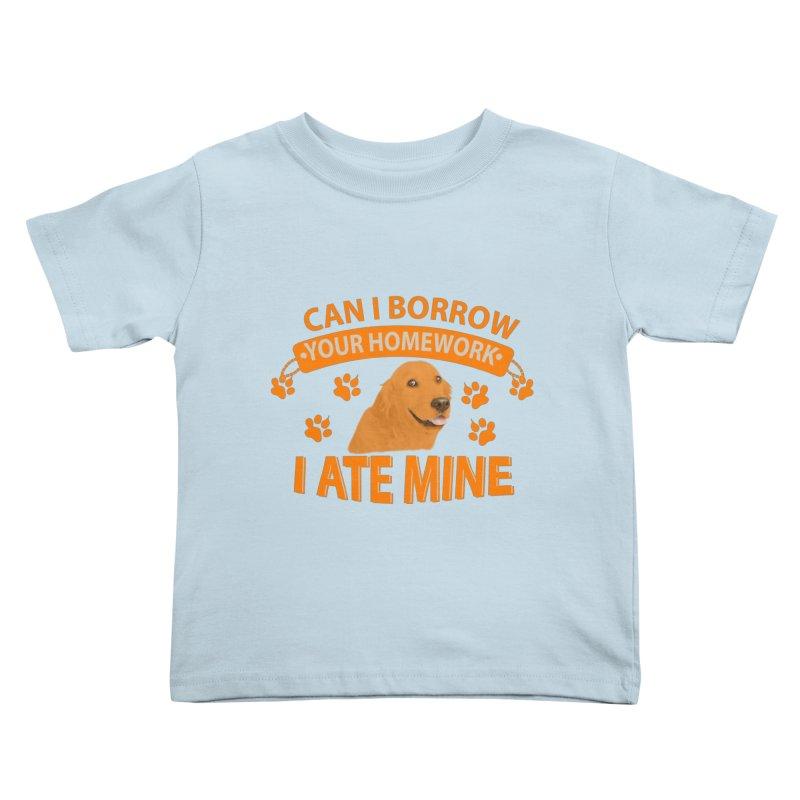 Homework snacking Kids Toddler T-Shirt by Mini Moo Moo Clothing Company
