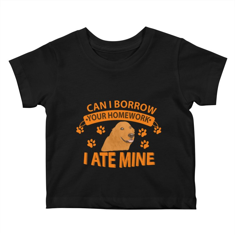Homework snacking Kids Baby T-Shirt by Mini Moo Moo Clothing Company