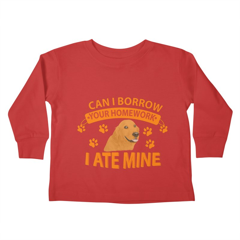Homework snacking Kids Toddler Longsleeve T-Shirt by Mini Moo Moo Clothing Company