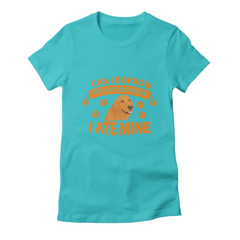 Homework snacking Women's Fitted T-Shirt by Mini Moo Moo Clothing Company