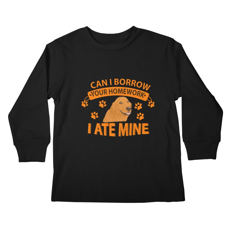 Homework snacking Kids Longsleeve T-Shirt by Mini Moo Moo Clothing Company