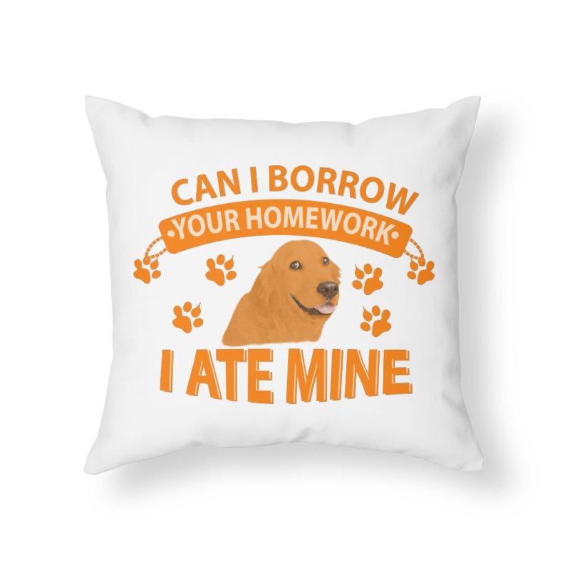 Homework snacking Home Throw Pillow by Mini Moo Moo Clothing Company