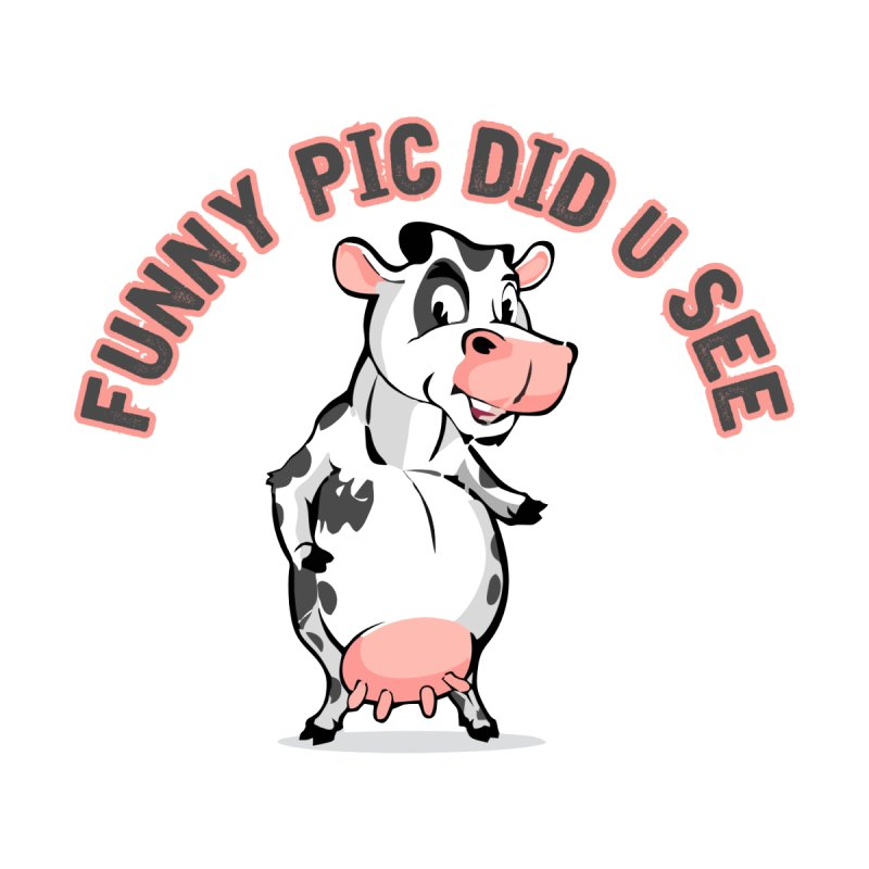 Funny Pic Did U See Home Framed Fine Art Print by Mini Moo Moo Clothing Company