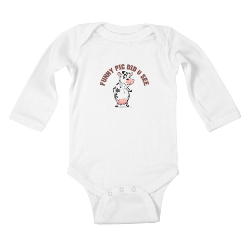 Funny Pic Did U See Kids Baby Longsleeve Bodysuit by Mini Moo Moo Clothing Company