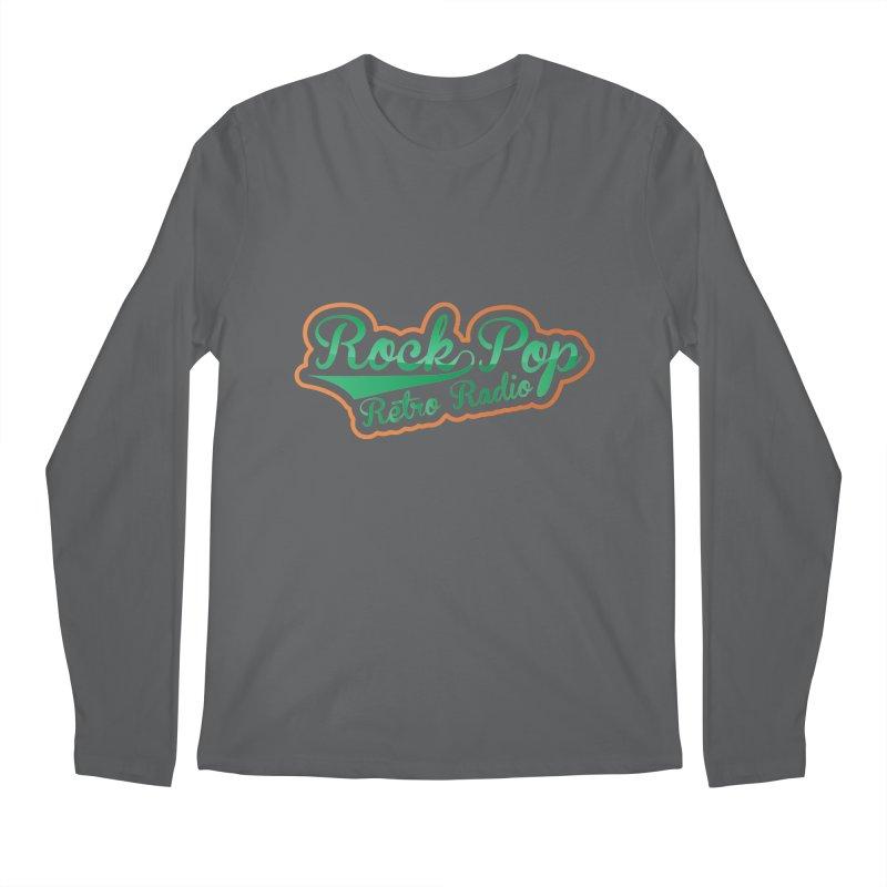 Rock Pop Retro Radio Men's Longsleeve T-Shirt by Mini Moo Moo Clothing Company