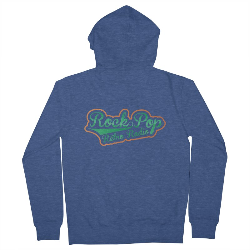 Rock Pop Retro Radio Men's Zip-Up Hoody by Mini Moo Moo Clothing Company