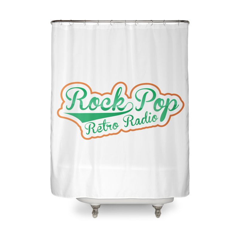 Rock Pop Retro Radio Home Shower Curtain by Mini Moo Moo Clothing Company