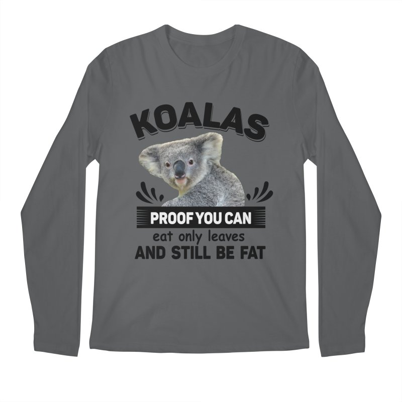 Koala Proof Men's Longsleeve T-Shirt by Mini Moo Moo Clothing Company