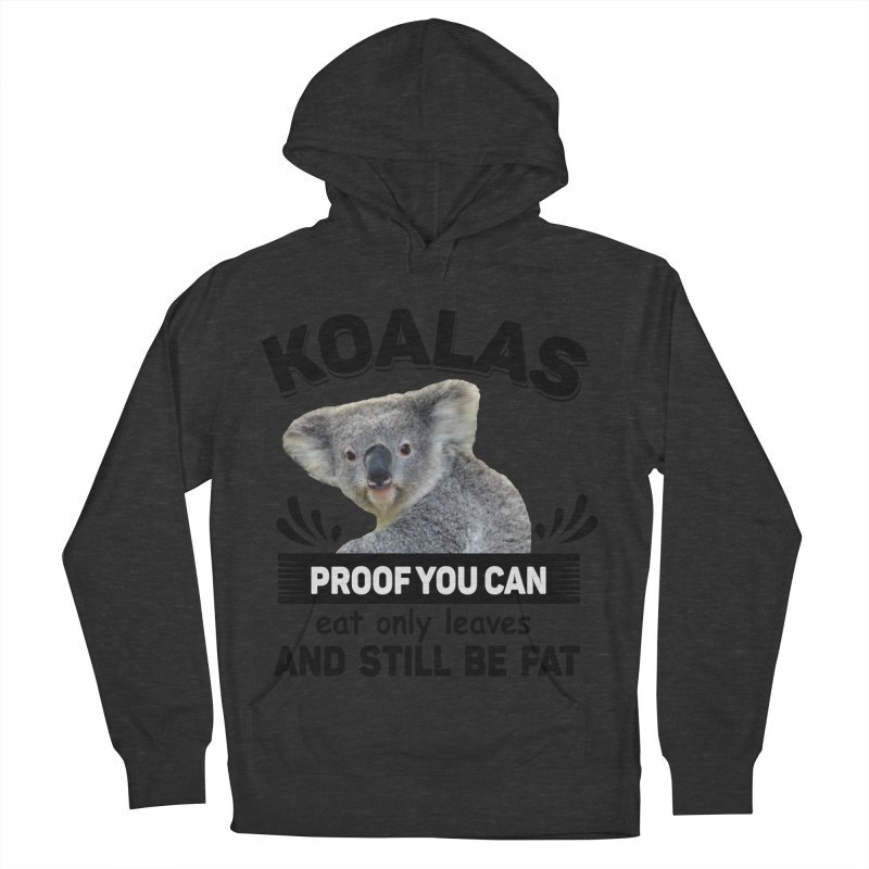 Koala Proof Men's French Terry Pullover Hoody by Mini Moo Moo Clothing Company