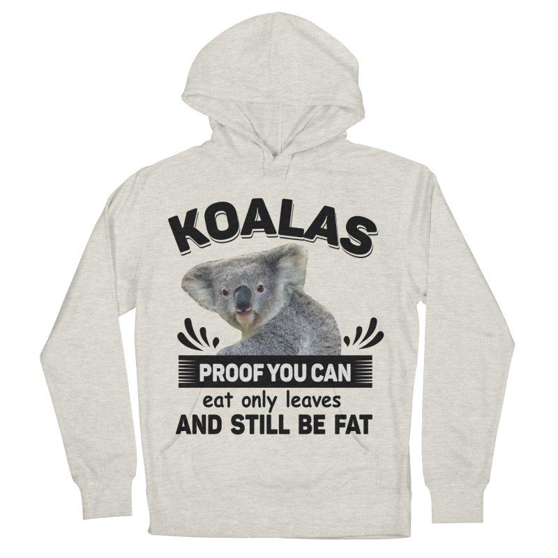 Koala Proof Men's French Terry Pullover Hoody by Mini Moo Moo Clothing Company