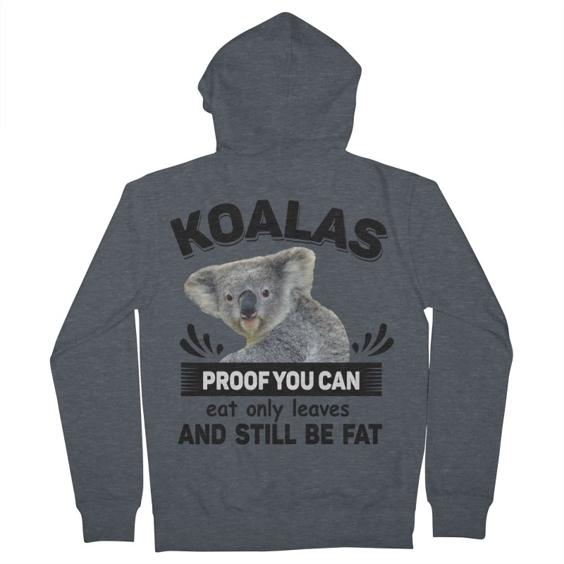 Koala Proof Men's French Terry Zip-Up Hoody by Mini Moo Moo Clothing Company