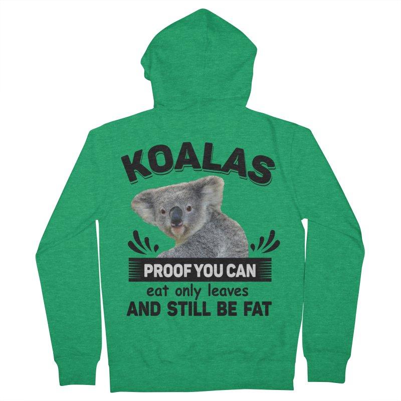 Koala Proof Men's Zip-Up Hoody by Mini Moo Moo Clothing Company