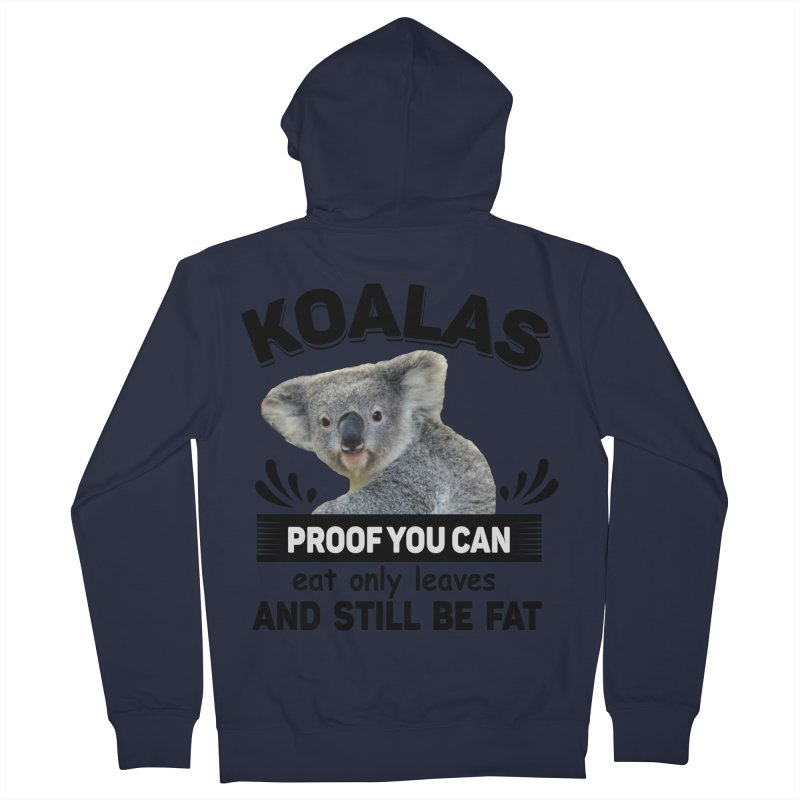 Koala Proof Men's Zip-Up Hoody by Mini Moo Moo Clothing Company