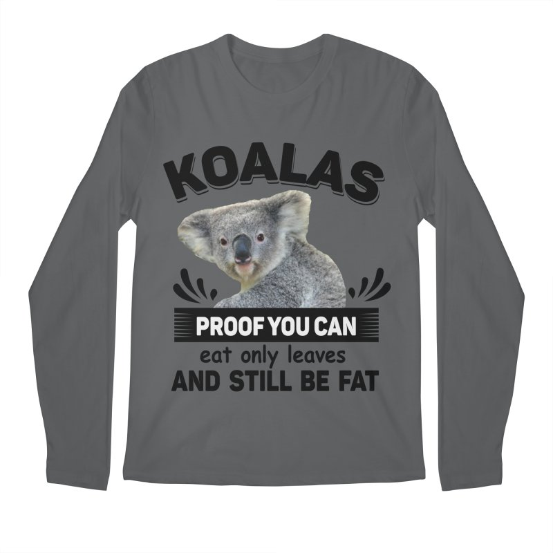Koala Proof Men's Regular Longsleeve T-Shirt by Mini Moo Moo Clothing Company