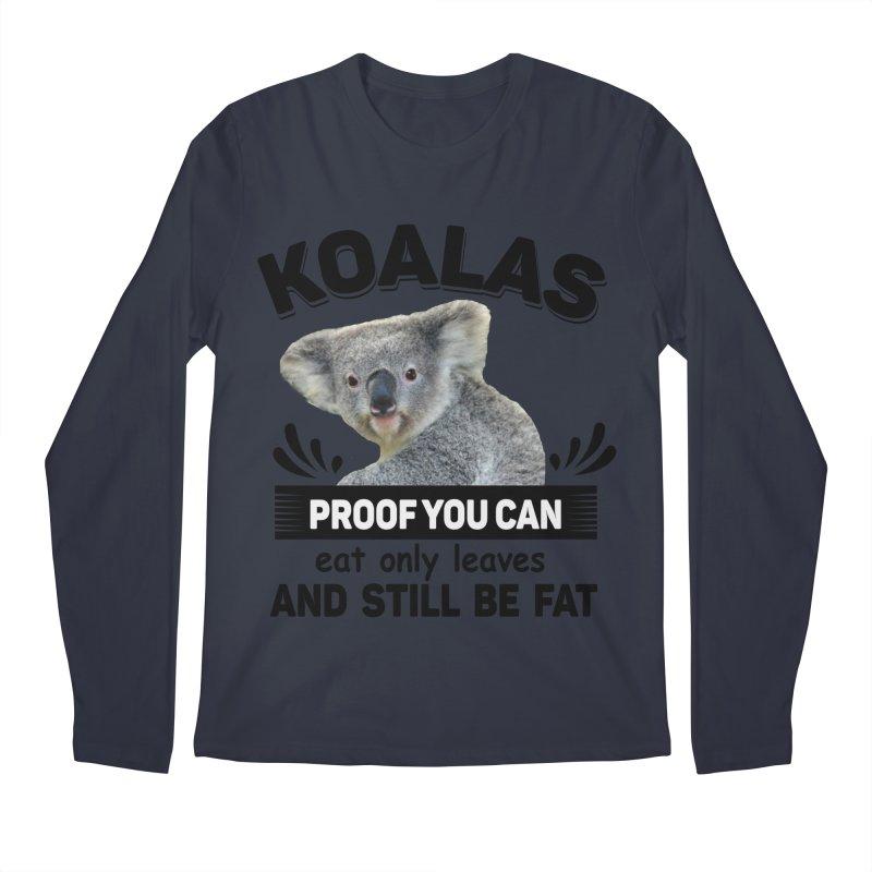 Koala Proof Men's Regular Longsleeve T-Shirt by Mini Moo Moo Clothing Company