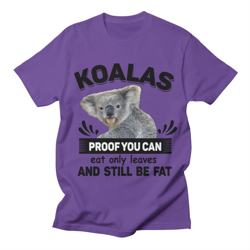 Koala Proof Men's T-Shirt by Mini Moo Moo Clothing Company