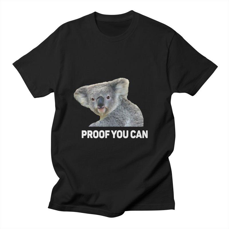 Koala Proof Women's Unisex T-Shirt by Mini Moo Moo Clothing Company